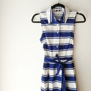Milly x DesigNation Striped Fit & Flare Dress